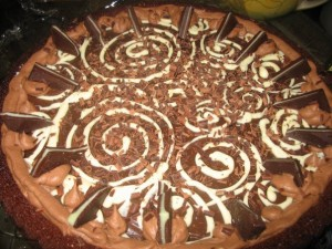 Chocolate Mint Truffle Torte