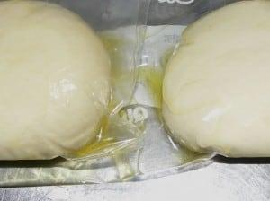 My semolina dough goes vis-a-vis with Peter Reinhart's dough.