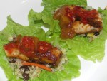 blackened-hake-on-zangy-quinoa-salad-and-lettuce-leaves