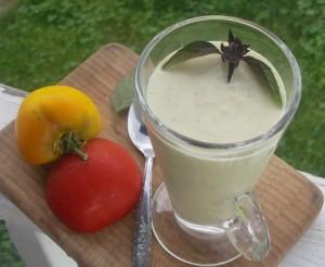 Cold Creamy Zucchini Soup or Faux Vicchysoisse
