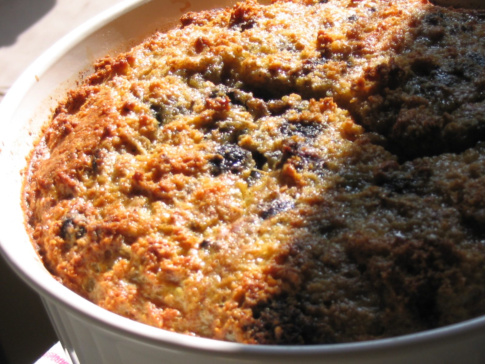 Cornmeal Blueberry Muffin Souffle