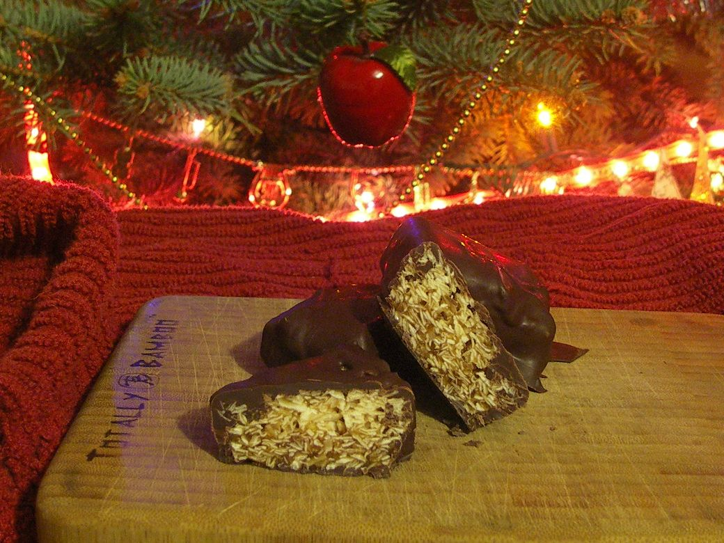 Honey Caramel and Coconut Chocolate Bars:  Foodie Gift #20