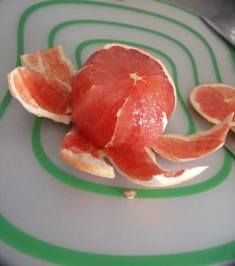 I think grapefruit is just gorgeous.  Almost a shame to eat it.  Almost...