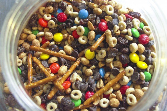 Gorp, trail mix, scroggins... It's a delicious, quick pick-me-up no matter what you call it.