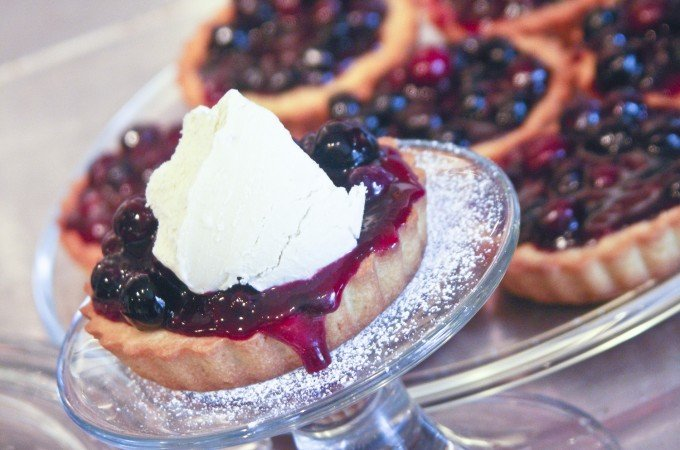 Blueberry Butter Tarts with Mascarpone Ice Cream