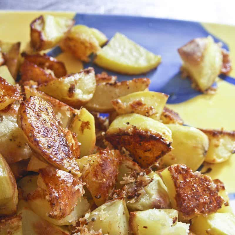 Roasted Crispy Cheese Potatoes