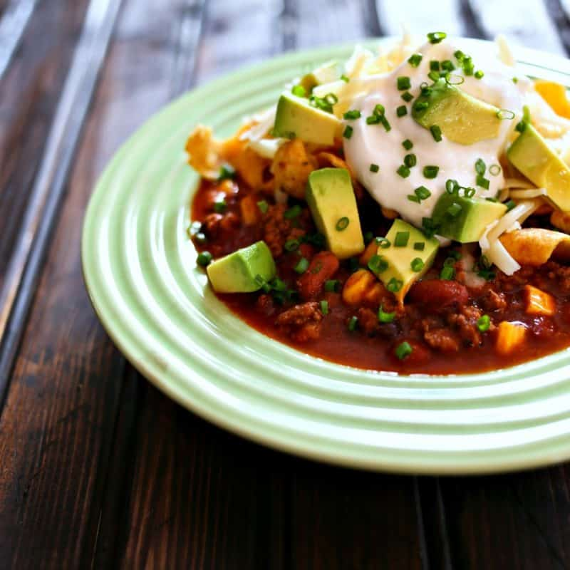Taco Soup in a slow-cooker or on the stove-top from foodiewithfamily.com