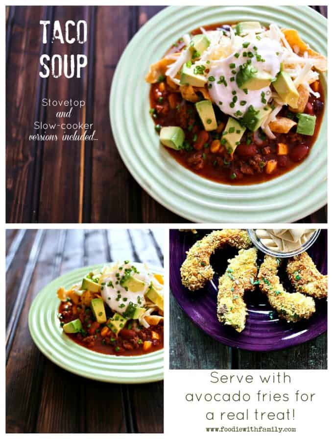 Taco-Soup-Served-With-Avocado-Fries