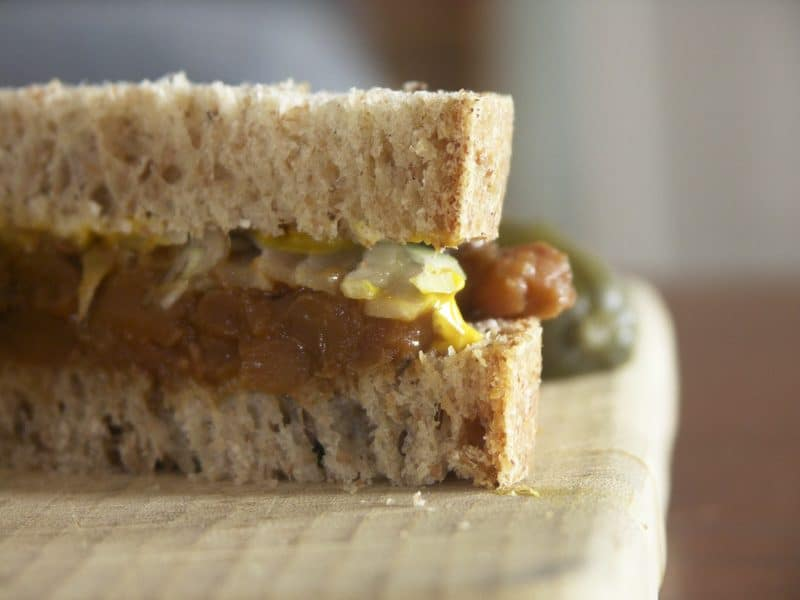 Sausage Baked Beans and Grandpa's Baked Bean Sandwiches