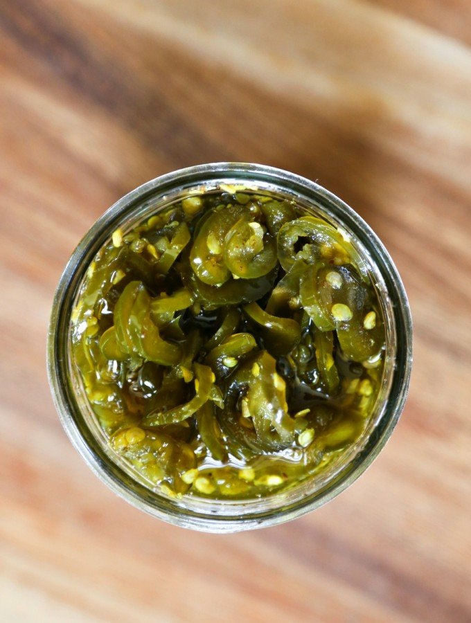 Sweet, spicy Candied Jalapeno from foodiewithfamily.com