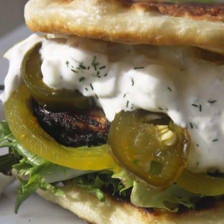 Tandoori Style Grilled Chicken and a Second to Naanwich. (Tandoori Chicken Sandwich on Naan)