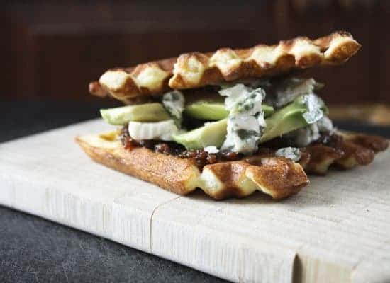 Bacon Jam, Avocado and Gorgonzola and Toasted Waffle Sandwiches | My Elvis Sandwich