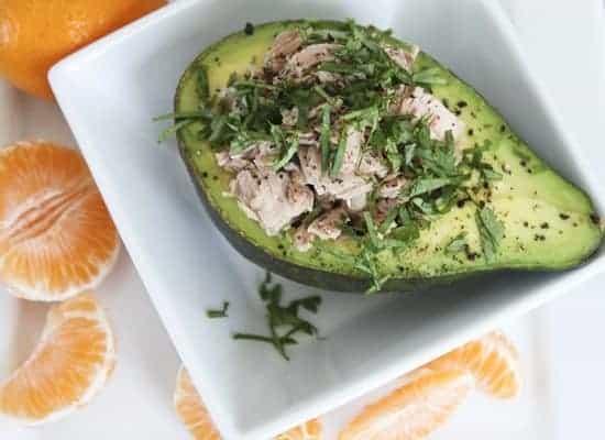 Tuna Filled Avocado Salad