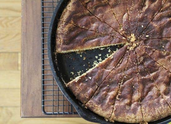Deep Dish Snickerdoodle Skillet Cookie