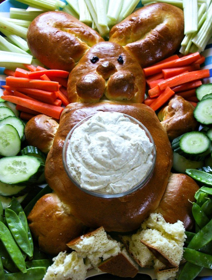 Bunny Bread for your Easter or Spring party buffets