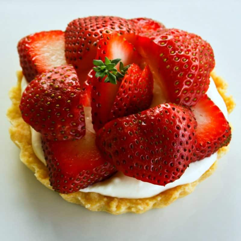 Brown Sugar Strawberries and Cream Tartlets