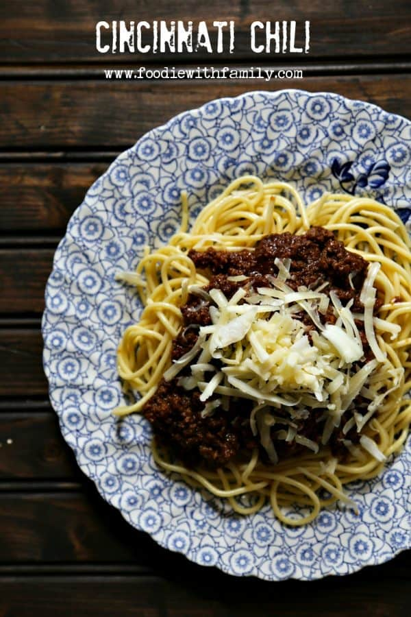 Cincinnati Chili  or Coney Sauce or Chili Fries sauce from foodiewithfamily.com