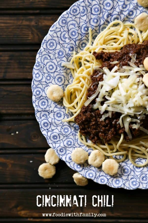 Real deal Cincinnati Chili from foodiewithfamily.com