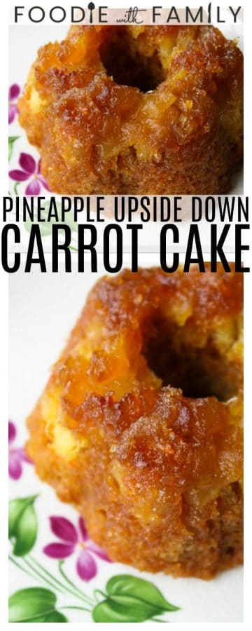 Pineapple Upside Down Carrot Cake: Caramelized, deep brown, buttery pineapple crowns perfect, sweet carrot cake. Top warm pieces with vanilla ice cream or a drizzle of creme fraiche for an over-the-top indulgent treat.