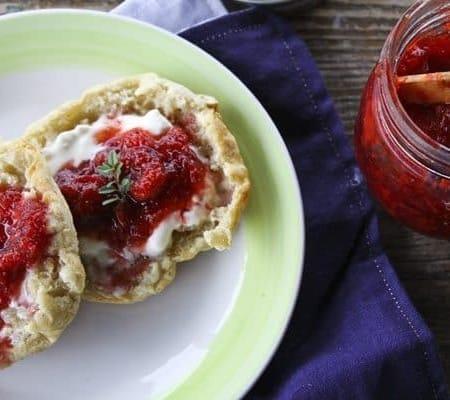Strawberry Balsamic Thyme Freezer Jam
