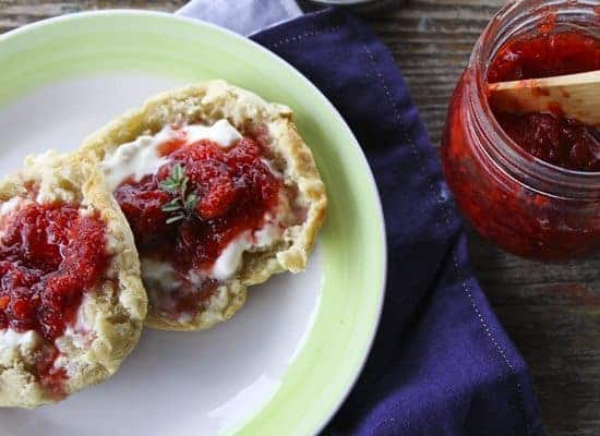 Strawberry Balsamic Thyme Freezer Jam