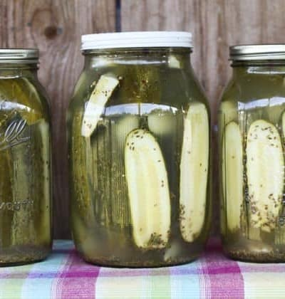 Homemade Claussen Knock-off Pickles from foodiewithfamily.com