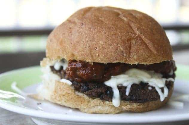 Pizza Black Bean Burgers