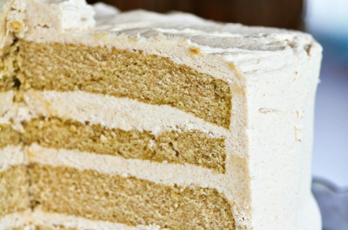 Snickerdoodle Cake with Brown Sugar Cinnamon Buttercream