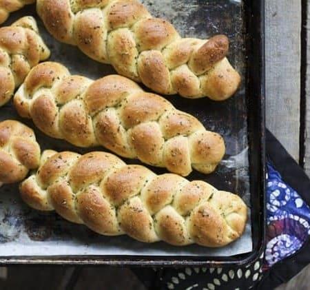 Individual Garlic Bread Braids