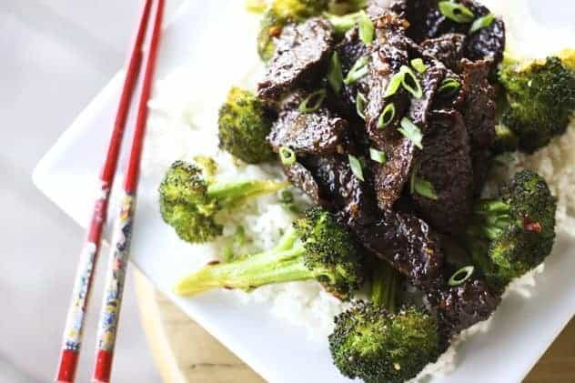 Sticky Garlic Ginger Venison (or Beef) Stir Fry