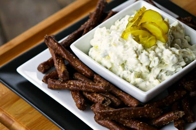 Dill Pickle Dip {or sandwich spread} from foodiewithfamily.com