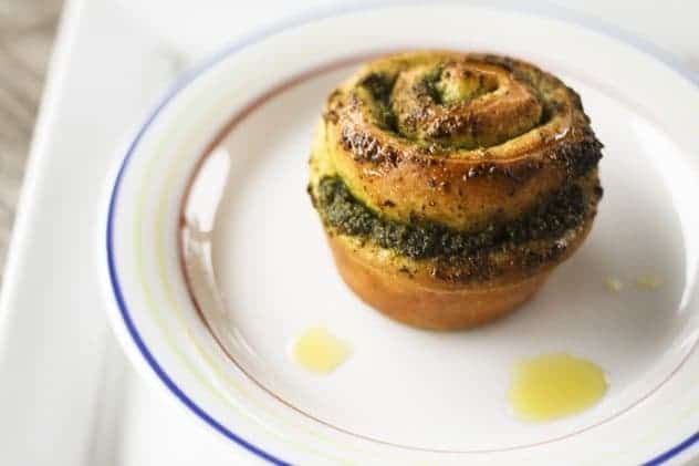 Pesto Pinwheel Rolls | Arugula and Walnut Pesto