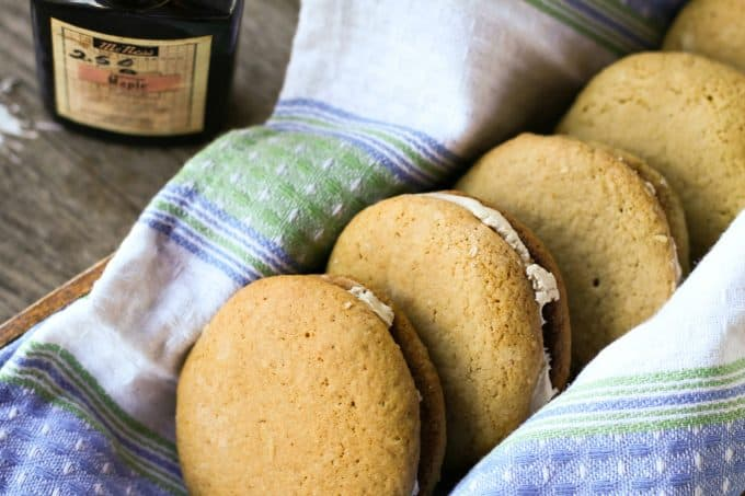 Real Recipe for Amish Maple Sandwich Cookies or Whoopie Pies from foodiewithfamily.com