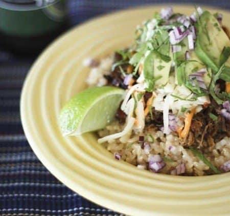 Slow-Cooker Cola Pulled Pork and Carnitas Rice Bowls   Make Ahead Mondays
