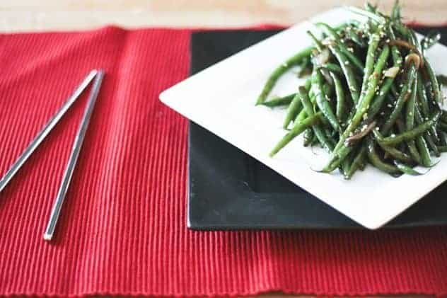 Simple Garlicky Green Bean Stir Fry