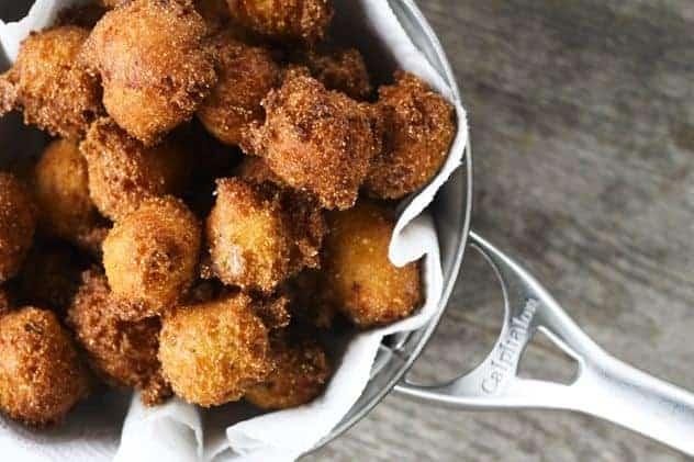 Kitchen Sink Hush Puppies | Pepper Jack and Ham Deep Fried Cornbread