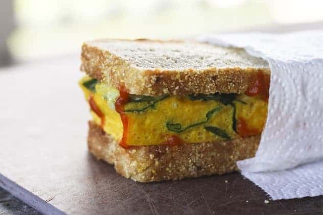 Supreme Spinach and Egg Breakfast Sandwiches | Make Ahead Mondays