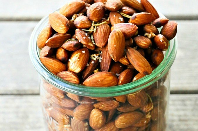 Slow-Roasted Rosemary Garlic Almonds
