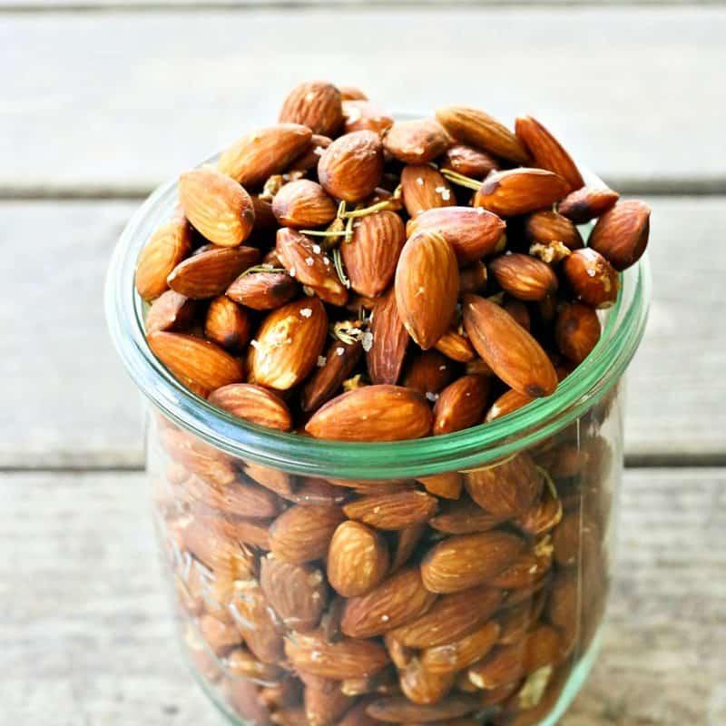 Slow-Roasted Rosemary Garlic Almonds