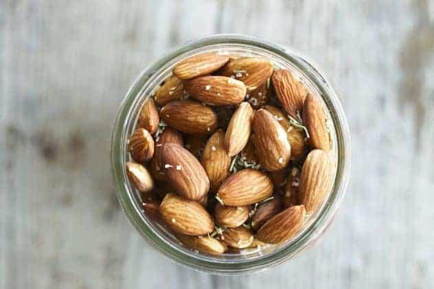 Rosemary and Garlic Slow-Roasted Almonds