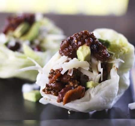 Salsa Beef and Bean Lettuce Cups