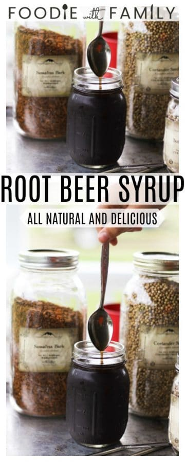 Make an honest to goodness delicious homemade root beer syrup that transforms into root beer soda pop with the simple addition of cold seltzer water.
