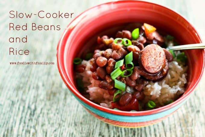 Easy, satisfying Slow-Cooker Red Beans and Rice from foodiewithfamily.com