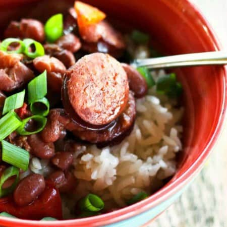 Slow-Cooker Red Beans and Rice from foodiewithfamily.com