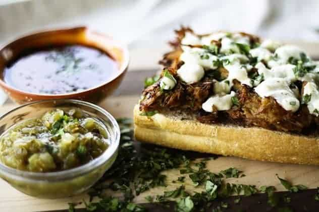 Pork and Fig Molletes | Mexican Open-Faced Toasted Sandwich