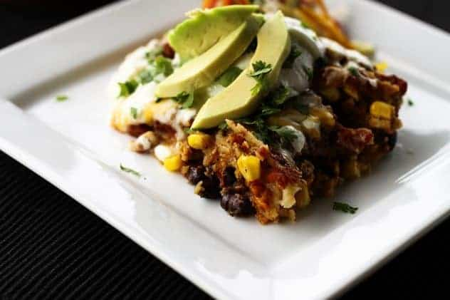 Slow Cooker Chicken and Black Bean Enchiladas