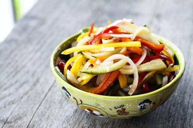 Refrigerator Pickled Salad (Bread and Butter Style)   Make Ahead Mondays
