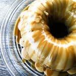 Pumpkin spice Cake with Maple Glaze and Cider Caramel