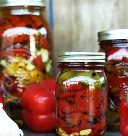Fire Roasted Red Peppers Preserved in Olive Oil | Make Ahead Mondays