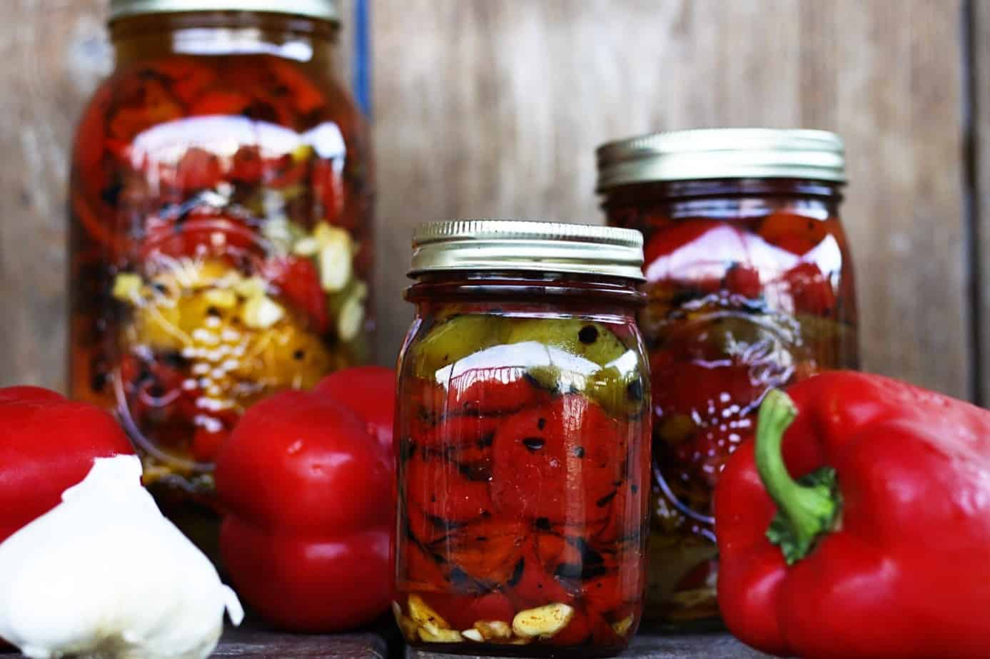 Roasted Red Peppers Preserved in Olive Oil | Make Ahead Mondays